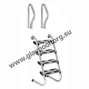 Лестница 4 ступени Flexinox Two Pieces Easy Access (87161022)